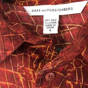 DVF silk jersey dress Size 4